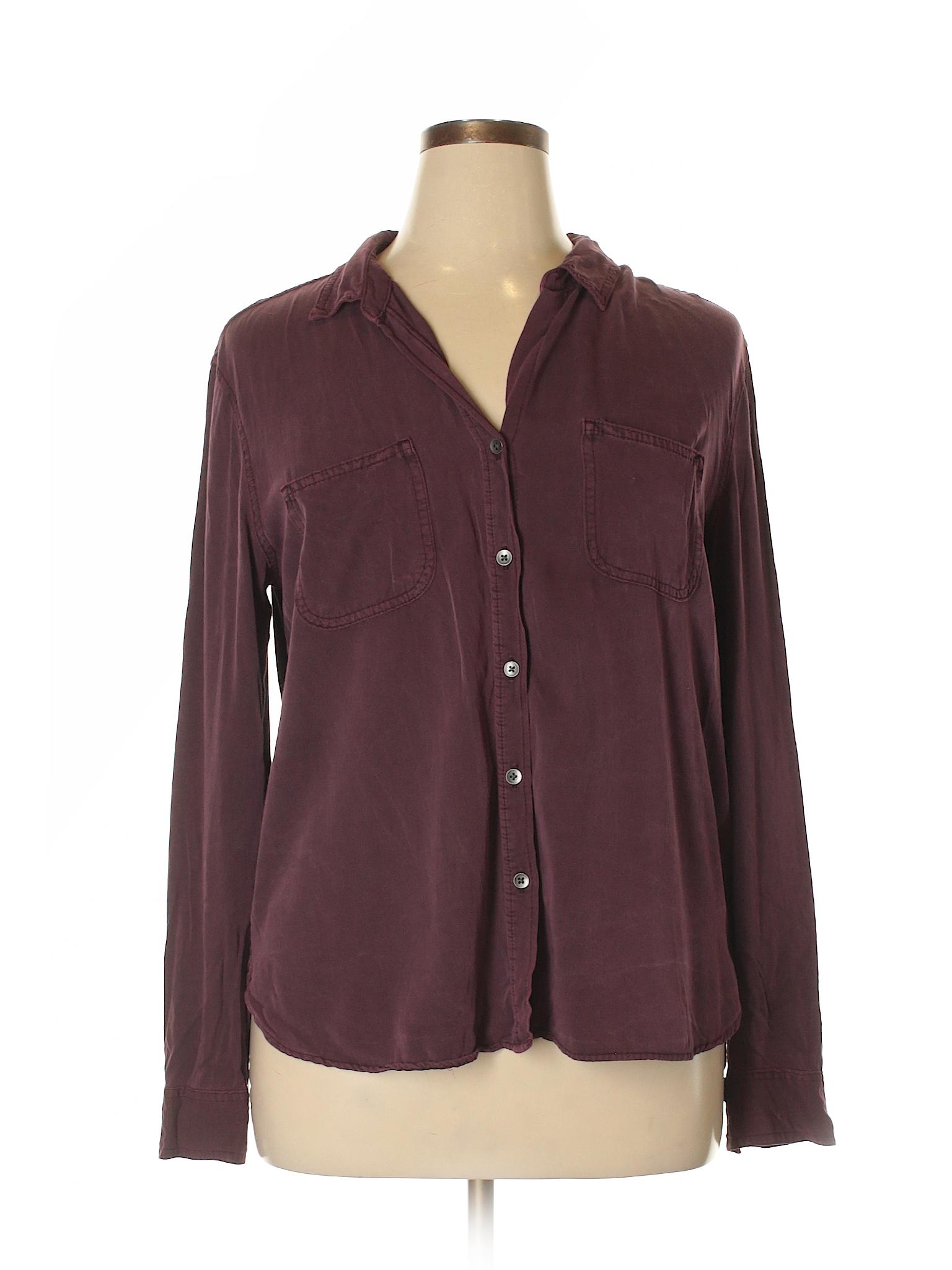 rock republic 100 rayon solid burgundy long sleeve button down shirt size xl 83 off thredup. Black Bedroom Furniture Sets. Home Design Ideas