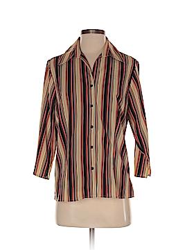 Joanna 3/4 Sleeve Button-Down Shirt Size S