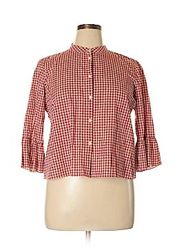 Madewell 3/4 Sleeve Button-Down Shirt Size XL
