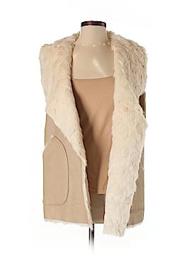 Trafaluc by Zara Faux Fur Vest Size S