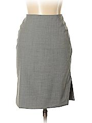 AK Anne Klein Women Wool Skirt Size 10 (Petite)