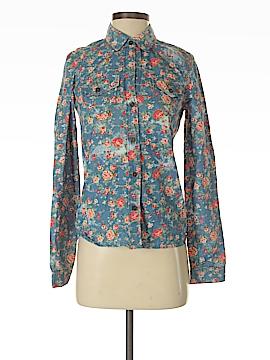 Bullhead Black Long Sleeve Button-Down Shirt Size XS