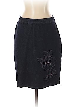 Petite Sophisticate Denim Skirt Size 4