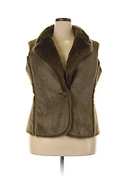 Boden Faux Fur Vest Size 16