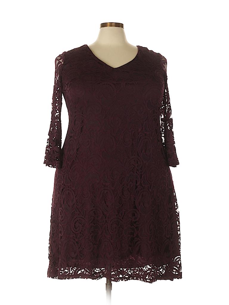 477683885cf34 Lane Bryant Lace Burgundy Cocktail Dress Size 14 - 16 Plus (Plus ...