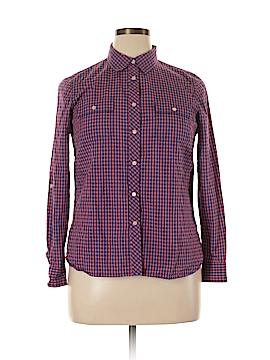 Talbots Long Sleeve Button-Down Shirt Size 14 (Petite)