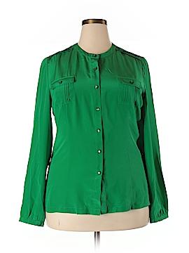 Pendleton Long Sleeve Silk Top Size 18 (Plus)