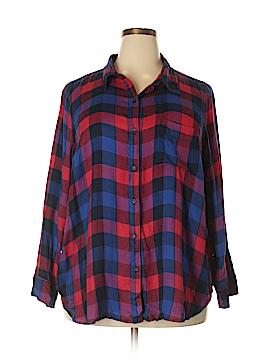 Lucky Brand Long Sleeve Button-Down Shirt Size 2X (Plus)