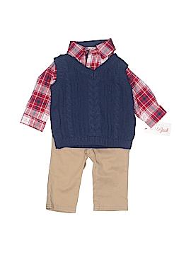 Cat & Jack Long Sleeve Button-Down Shirt Size 3-6 mo