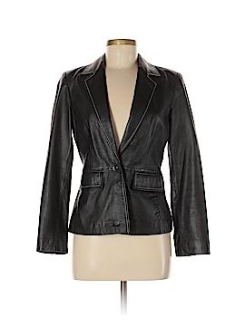 INC International Concepts Leather Jacket Size 6 (Petite)