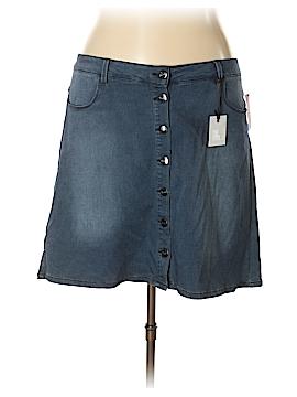 Nanette Lepore Denim Skirt Size 22 (Plus)