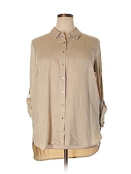 Calvin Klein Long Sleeve Button-Down Shirt Size 0X (Plus)