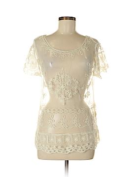 Garnet Hill Short Sleeve Blouse Size M