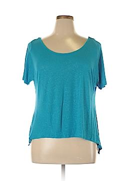 Eyelash Couture Short Sleeve Top Size XL