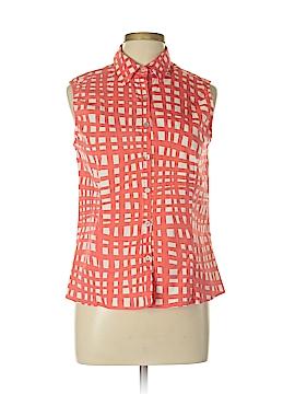 Rafael Sleeveless Button-Down Shirt Size L