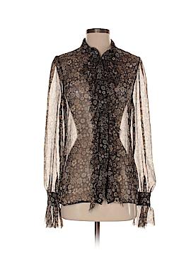 Georgie Long Sleeve Silk Top Size 2