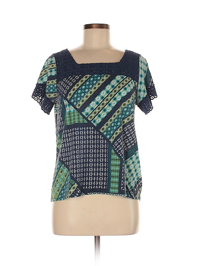 St john 39 s bay print navy blue short sleeve t shirt size m for South bay t shirt printing