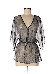 Gibson Women 3/4 Sleeve Silk Top Size XS