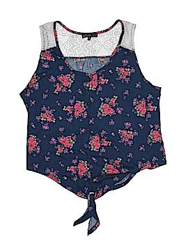 Weavers Sleeveless Button-Down Shirt Size L