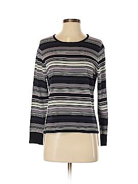 Liz Claiborne Long Sleeve Silk Top Size M (Petite)