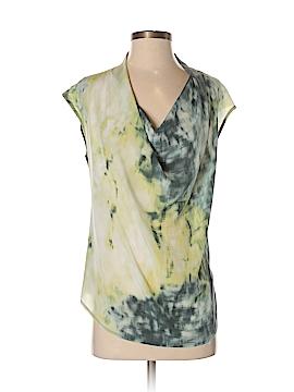 Deletta Short Sleeve Silk Top Size XS