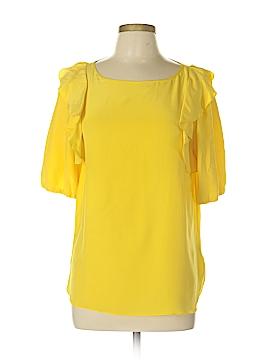 Tibi Short Sleeve Silk Top Size 10