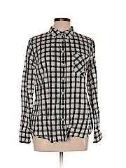 Merona Women Long Sleeve Button-Down Shirt Size L