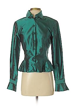 Marisa Baratelli Long Sleeve Silk Top Size 2