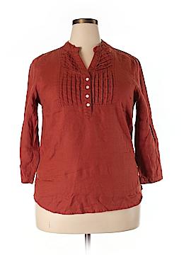 La Naturelle 3/4 Sleeve Button-Down Shirt Size XXL