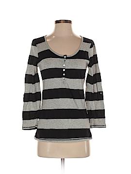 Color Thread 3/4 Sleeve Henley Size S