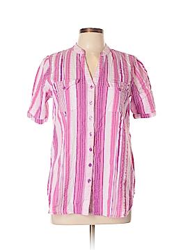 Roaman's Short Sleeve Button-Down Shirt Size 12