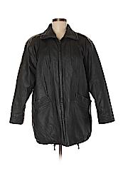 Liz Baker Essentials Women Faux Leather Jacket Size M (Petite)