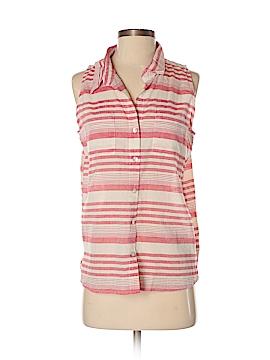 Just Living Sleeveless Button-Down Shirt Size S