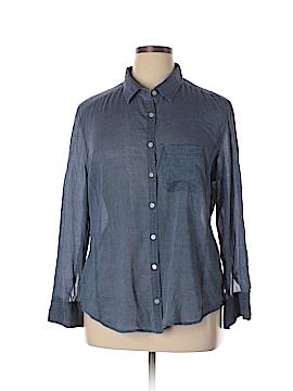 Caslon Long Sleeve Button-Down Shirt Size XL (Petite)