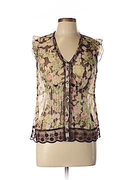 Mac & Jac Short Sleeve Silk Top Size 10