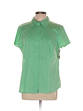 Attention Short Sleeve Button-Down Shirt Size XL