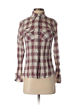 Delia Long Sleeve Button-Down Shirt Size S