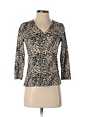 Lynn Ritchie Women 3/4 Sleeve Silk Top Size XS