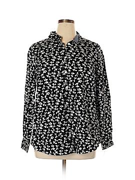 Charter Club Long Sleeve Button-Down Shirt Size 14W