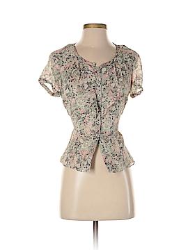 Jones New York Collection Short Sleeve Silk Top Size 2 (Petite)