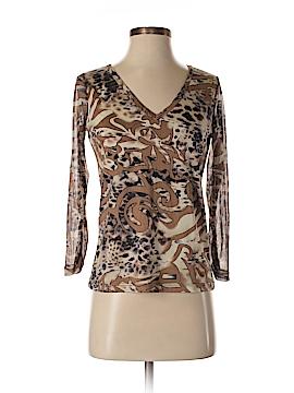 Lynn Ritchie 3/4 Sleeve Silk Top Size S