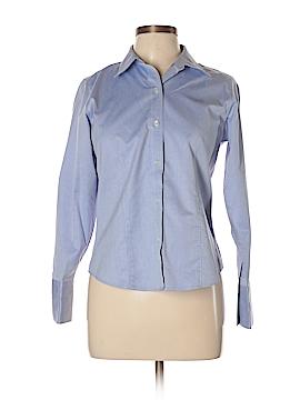 Liz Claiborne Long Sleeve Button-Down Shirt Size 8 (Petite)