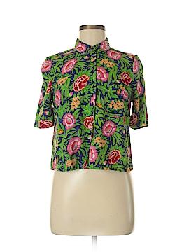 River Island Short Sleeve Button-Down Shirt Size 8