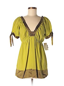 Hale Bob Short Sleeve Silk Top Size M
