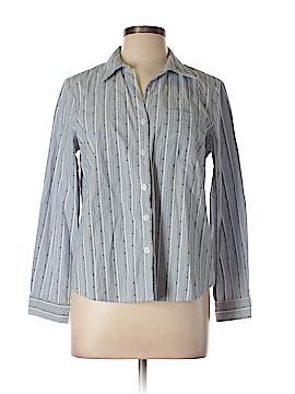 Anne Klein Long Sleeve Button-Down Shirt Size L (Petite)