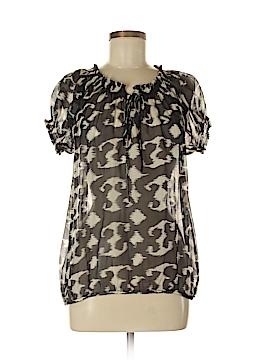 Ya-Da Short Sleeve Silk Top Size S