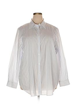 Lauren by Ralph Lauren Long Sleeve Button-Down Shirt Size 20w (Plus)