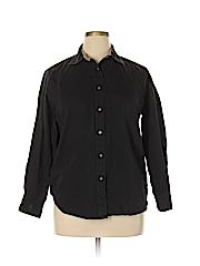 Bella Bliss Women Long Sleeve Button-Down Shirt Size XL