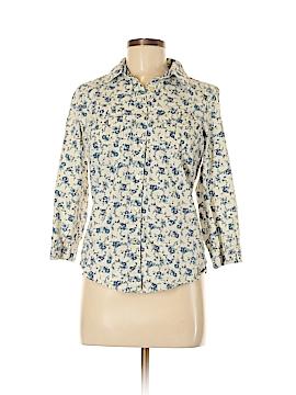 Bass 3/4 Sleeve Button-Down Shirt Size S