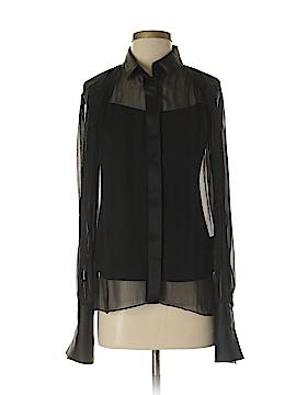 Elie Tahari Long Sleeve Silk Top Size S